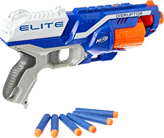 NERF Elite - Disruptor Blaster - Rotating Drum inc 6 official Darts - Kids Toys & Outdoor games - Ages 8+