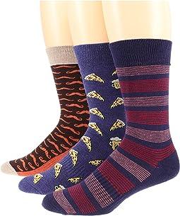 Premium Organic Cotton Crew Socks 3-Pack