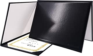 GraduationMall Couverture de Diplôme Titulaire du Certificat Couvertures de Graduation pour A4 Classique Lisse Noir