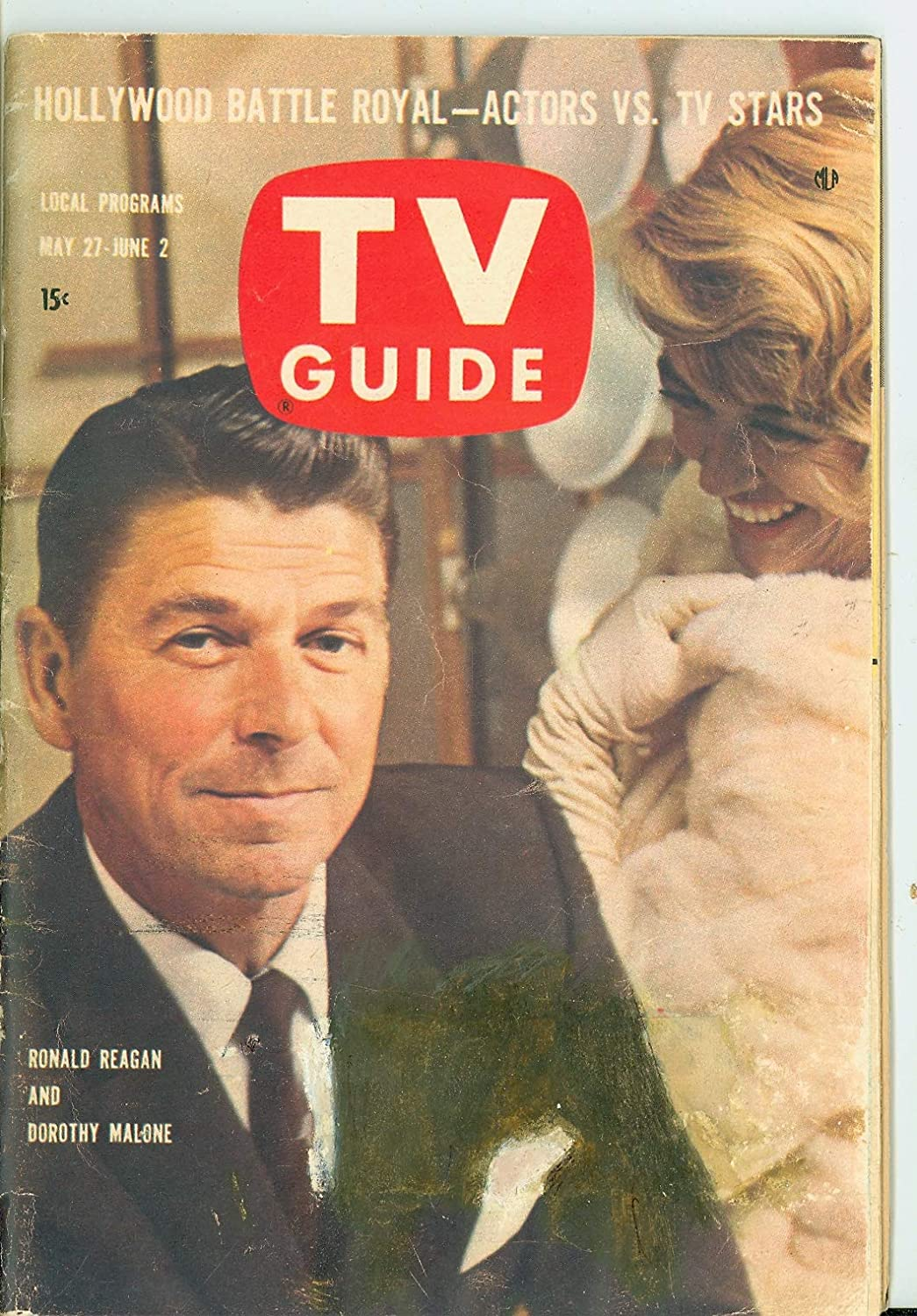 1961 TV Guide Limited time sale Max 66% OFF May 27 Ronald Pittsbur Malone and Reagan Dorothy -