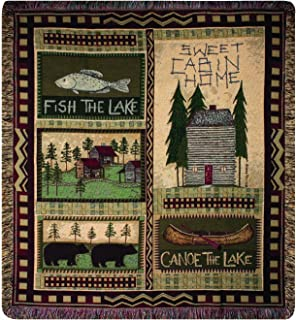 Manual The Lodge Collection 50 x 60-Inch Tapestry Throw, Big Bear