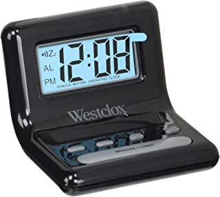 Westclox Black NYL47538 LCD Digital Bedside Alarm Clock