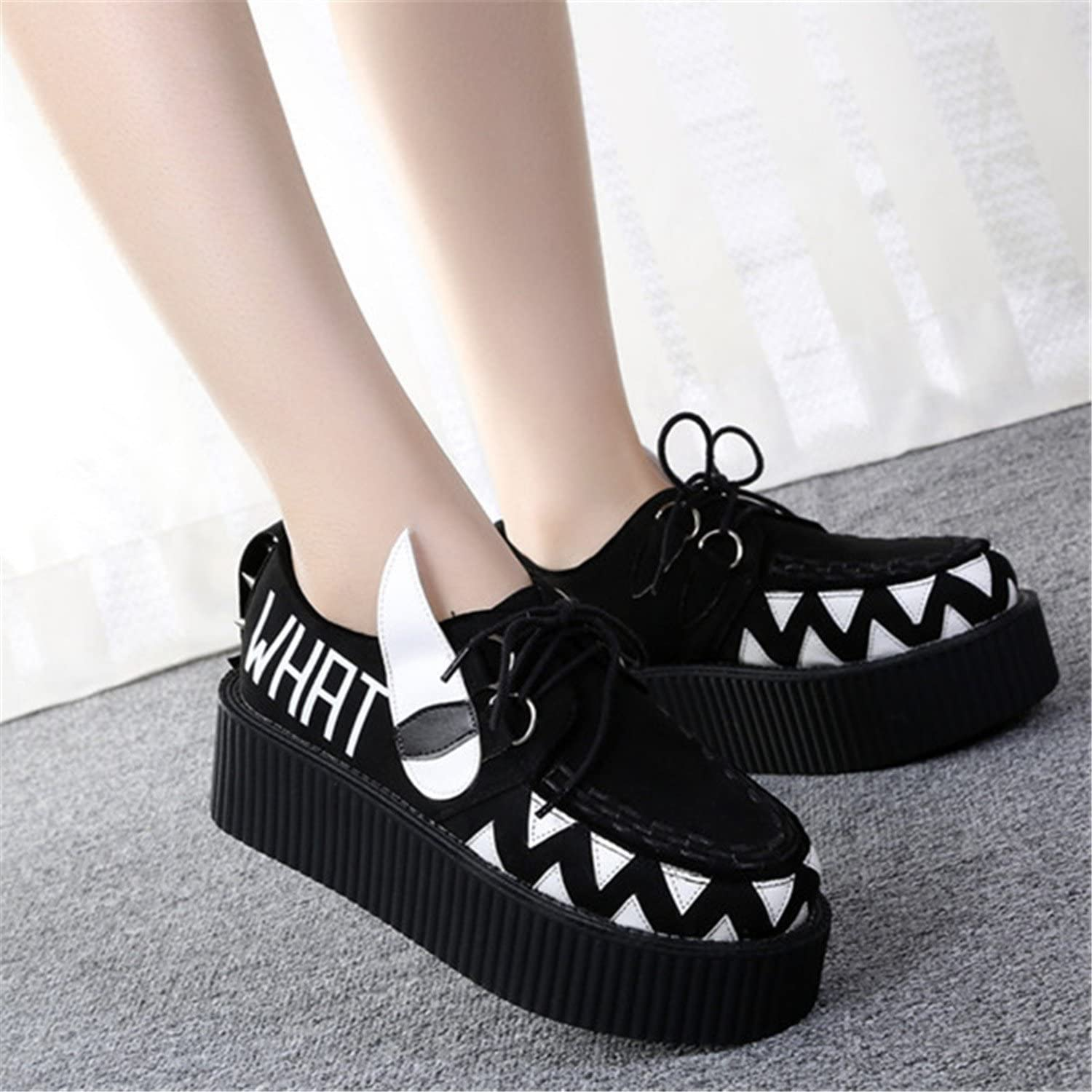 Robert Westbrook Flat Creepers Platform shoes for Woman Casual Women Punk Creeper Pattern shoes Ladies Girls