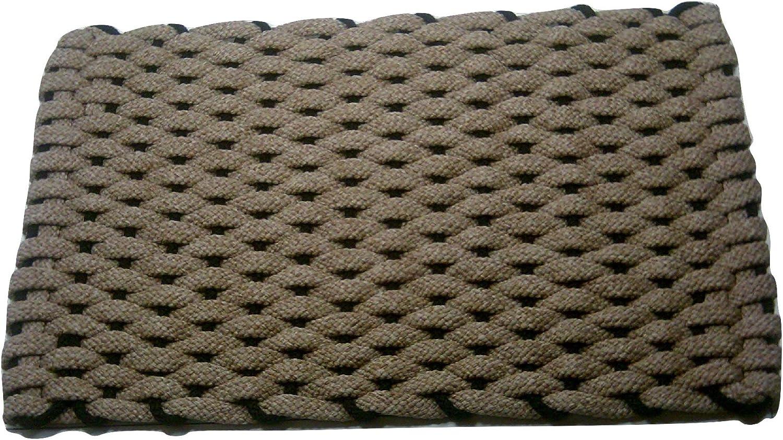 Rockport Rope Doormats 2438378 Indoor & Outdoor Doormats, 24  x 38 , Tan with Black Insert