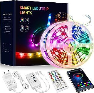Tiras LED 15 Metros, Beaeet Luces LED 5050 RGB Tira LED con Control Remoto de 40 Botones, Sincronización de música Bluetoo...
