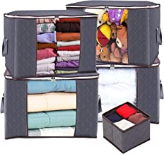 Anyoneer Clothes Storage Bags and Closet Organizer with Reinforced Handle, 3 Layer Fabric and Sturdy Zipper, Extra Large C...