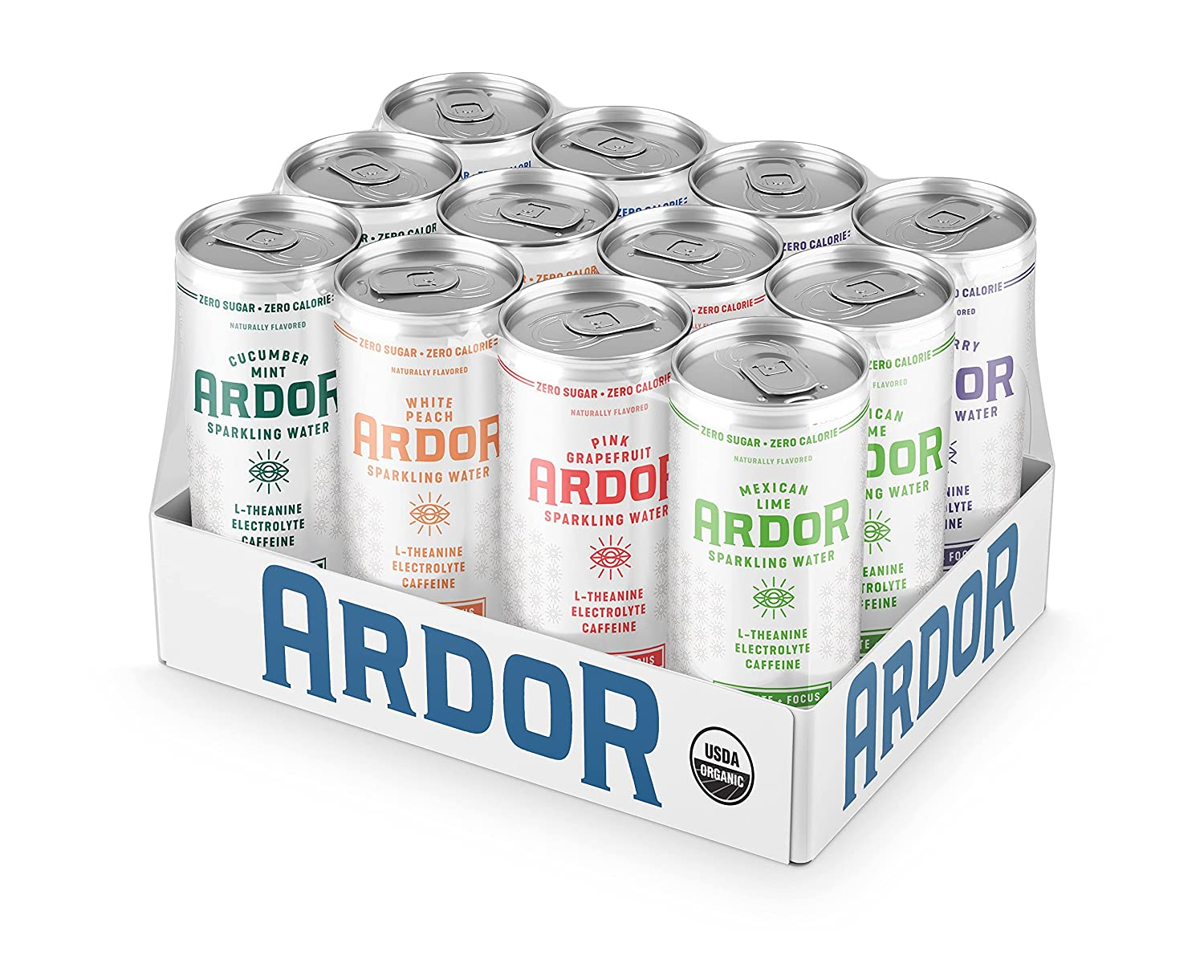ARDOR Long-awaited - Organic Sparkling Water Mexican pack flavor variety Limited time for free shipping 6