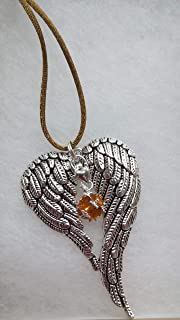 November Birthstone Angel Wings Memorial Ornament