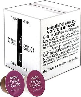 80 x Nescafé Dolce Gusto Chai Tea Latte, Thé Aromatisé, Thé, Capsules de Thé, Paquet Grand Format, 80 Capsules (40 Portions)