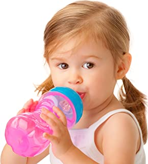 Nuby No-Spill Gripper Cup, Sippy Cup for Baby and Toddler, 10 Ounce, Colors May Vary