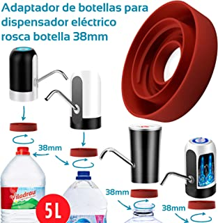 MovilCom® - Adaptador de Botella para dispensador de Agua Eléctrico Compatible con Botellas 5, 6, 8, 10, 12 litros | para Botellas o adaptadores con diámetro 38mm (38mm)