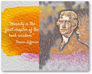 Ramini Brands Thomas Jefferson Honesty Inspirational Quote - 8 x 10 Unframed Print - Wall Art for Bedrooms, Offices, Livin...
