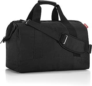 Allrounder L Large Weekender Bag, Versatile 6-Pocket Padded Duffel, Black