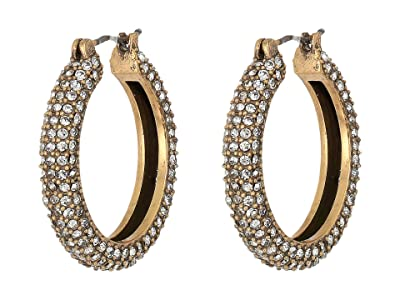 J.Crew Illy Pave Hoop Earrings (Crystal) Earring