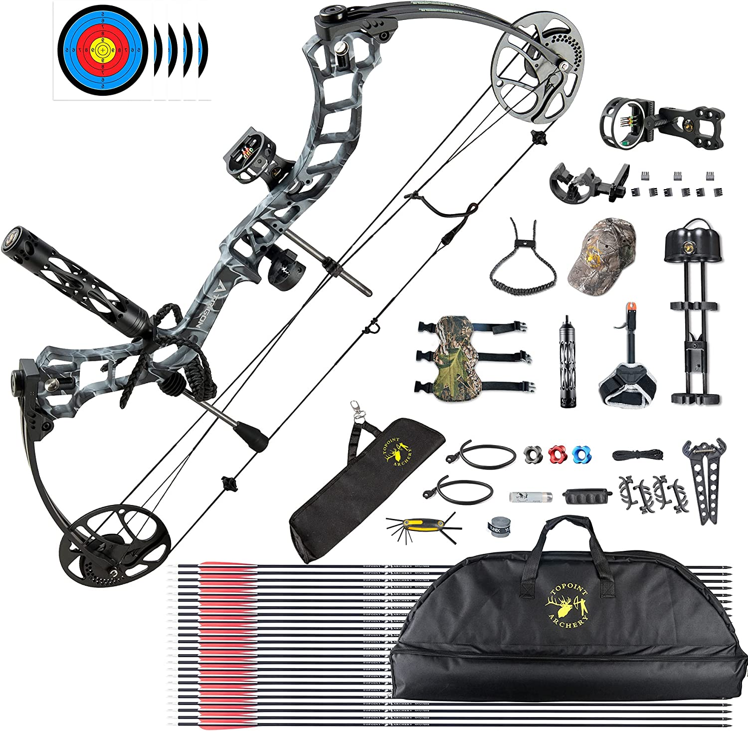 HYF Max 63% OFF Hunting Compound Bow Finally resale start Package Accessories Adults 19- for with