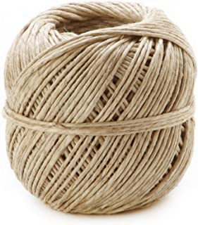 Darice Add a Smooth, Professional Finish 100% Natural 48 Pound Thickness – Perfect for Jewelry and Craft Projects – for Gardeners – Strong Hemp Cord is Easy to Tie and Doesn't Fray, 400 feet (1 Roll)