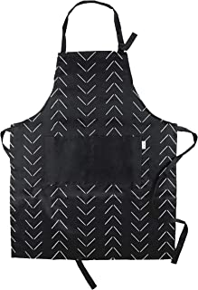 Sage and Stitch Adjustable Neck Cooking Apron 27'' x 33'' Machine Washable with 2 Pockets for Chef BBQ Baking - Mudcloth