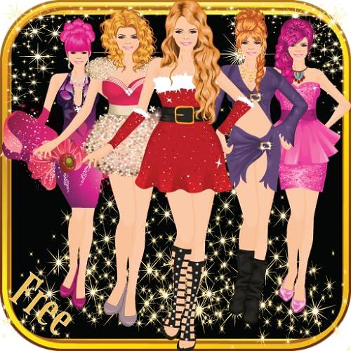 Fashion girl natal vestir-se