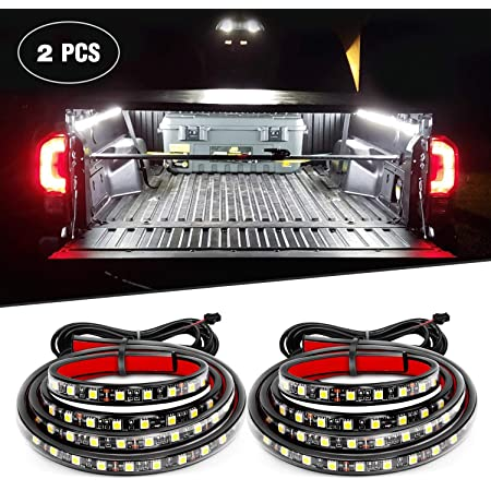 Nilight - TR-05 2PCS 60 Inch 180 LEDs Bed Strip Kit with Waterproof on/Off Switch Blade Fuse 2-Way Splitter Extension Cable for Cargo, Pickup Truck, SUV, RV, Boat , 2 Years Warranty