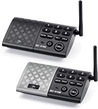 Real-time Two-Way Conversation Portable Wireless Intercom System 1000 feet Long Range DECT.6.0 Paired Intercom System Wireless Intercom System for Home and Office