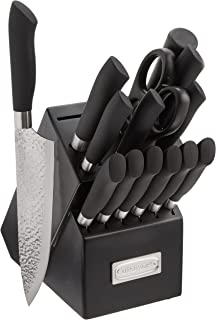 Cuisinart C77SS-15PP Classic Artisan Collection 15 Piece Stainless Steel Cutlery Block Set, Black