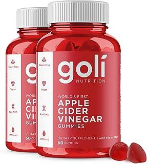 "Apple Cider Vinegar Gummy Vitamins by Goli Nutrition - 2 Pack - (120 Count, Organic, Vegan, Gluten-Free, Non-GMO, with""The..."