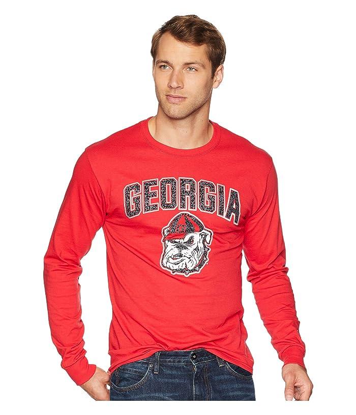 Champion College Georgia Bulldogs Long Sleeve Jersey Tee (Scarlet) Boy