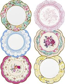 comprar comparacion Talking Tables TS6-VINTAGE-PLATE Placa, Cartón, Multicolor, 18.5x17x18.5 cm, 12 Unidades