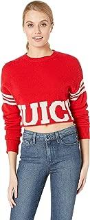 Women's Collegiate Logo Sweater with Stripe
