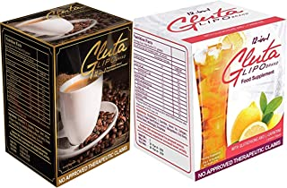 GlutaLipo Juice & Coffee Bundle (10 Sachets Coffee & 10 Sachets Juice)