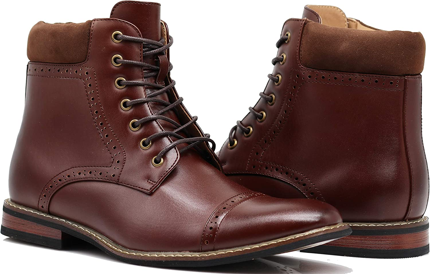 OTW4N Men's Chukka Ankle Dress Boots Captoe for Winter Lace Up Oxfords Boots