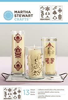 Martha Stewart Crafts Adhesive Stencils (5.75 by 7.75-Inch), 32268 13 Scrolls 13 Designs