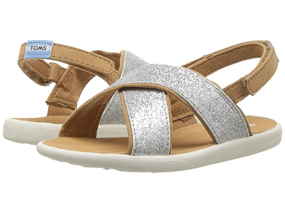 TOMS Kids Viv (Infant/Toddler/Little Kid) (Silver Iridescent Glimmer) Girl
