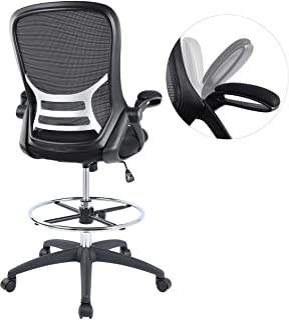 High-Back Mesh Ergonomic Drafting Chair Tall Office Chair...