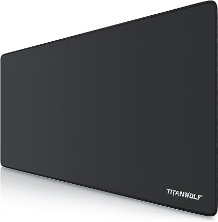 TITANWOLF - XXL Alfombrilla para ratón 900 x 400 mm | Speed Gaming Mousepad | Mouse Pad para Ordenador | Base para Mesa Grandes Dimensiones | Diseño: Alpha