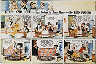 Posterazzi Poster Print Collection Npanels from a 'Mutt and Jeff' Comic Strip by H.C. 'Bud' Fisher 1918, (18 x 24), Multicolored