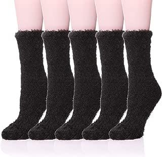 5/6 Pairs Womens Super Soft Fuzzy Plush Warm Winter Home Sleeping Slipper Socks