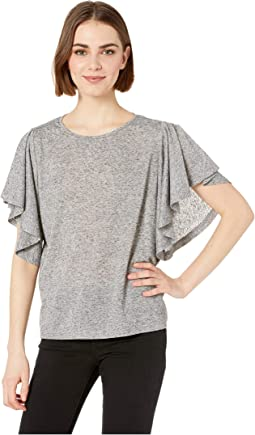 Perfect Day Linen Blend Jersey Knit Top