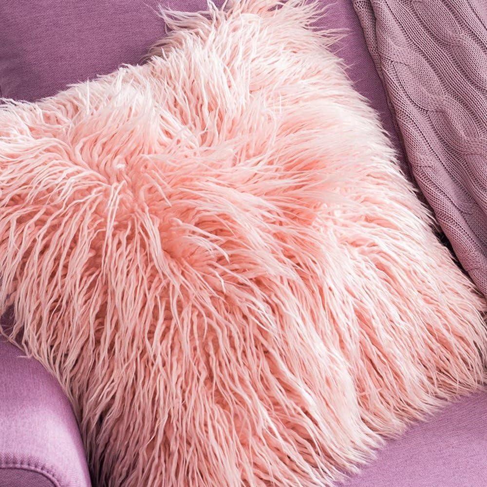 Pillow-MAIKA HOME 50 * 50CM Coussins de canapé de Salon/Oreiller de Voiture/Coussins de Chevet/Coussins de Dos de Bureau (Couleur: Vert) Rose