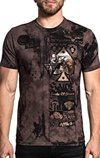Men's State of Risk Tee Shirt Scare Crow Wash