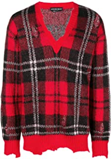 Luxury Fashion | Alexander Mcqueen Men 534376Q1RQT6543 Red Synthetic Fibers Sweater | Season Outlet