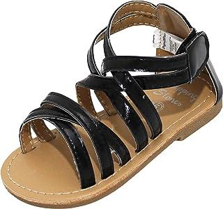 b662056b22dad Stepping Stones Little Girls Gladiator Sandals (Girls Strappy Sandals) Sizes  3-10 Silver