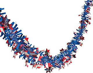Patriotic Garland - 24 Ft. X 2 1/2 - 4th of July Party Supplies by Oriental Trading Company