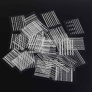 GrandSiri Beauty Manicure 30 Sheet Random Nail Stickers Art Design Decals Accessories White