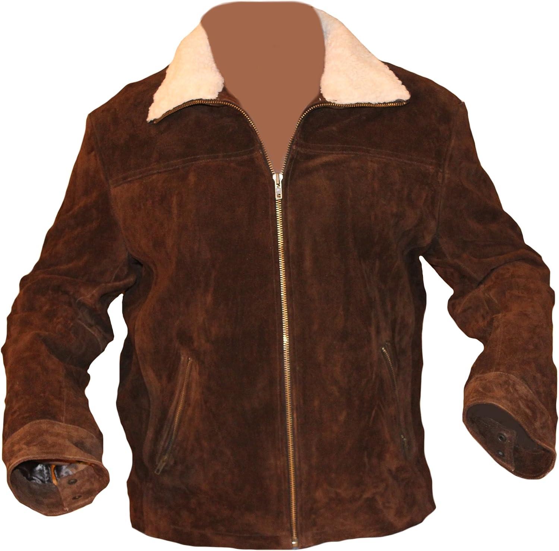 coolhides Men's Rick Grimes Suede Leather Jacket