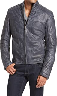 SKINOUTFIT Men's Leather Jackets Motorcycle Bomber Biker Genuine Lambskin 74