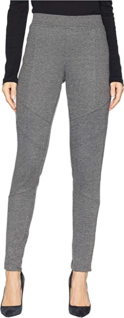 Heathered Ponte Moto Seamed Leggings