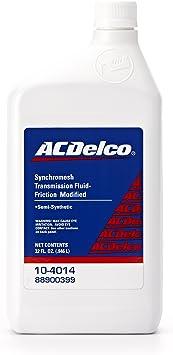 Acdelco 10 4014 Friction Modified Synchromesh Manual Transmission Fluid 32 Oz Automotive Amazon Canada