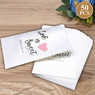 50Pcs Wedding Favors Candy Buffet Bags White Kraft Paper Wedding Favor Rustic Bags Good for Treat Snacks or Cookie Buffets