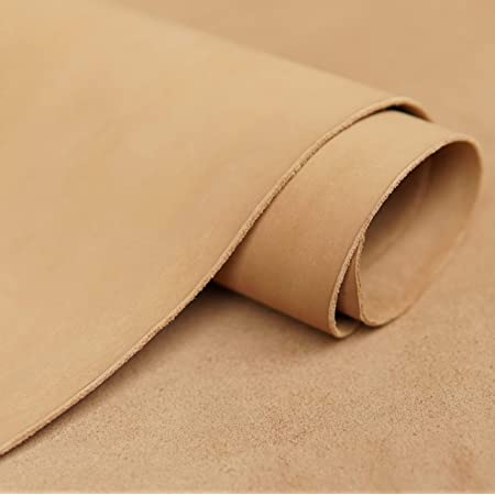 Dyed veg tan leather cowhide craft 1.8-2mm thick dark brown